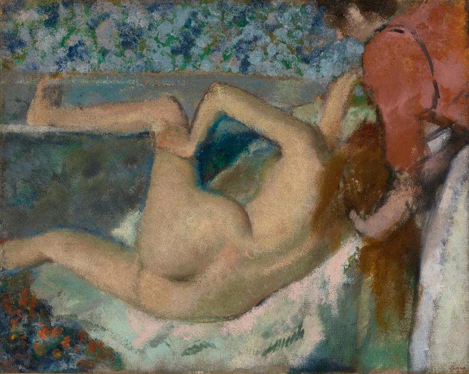 Degas na het bad 1895.jpg