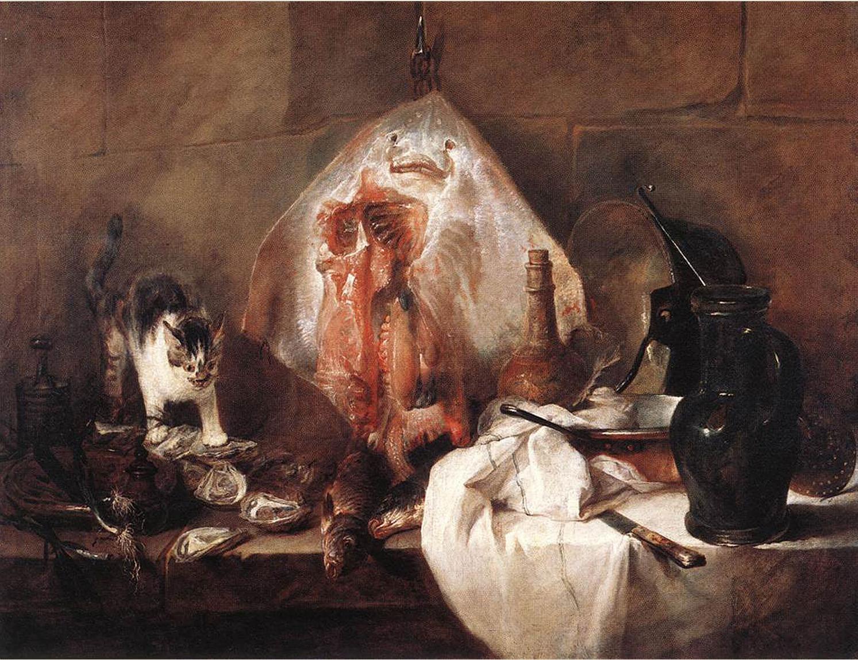 17 Jean Baptiste Chardin La Raie 1728