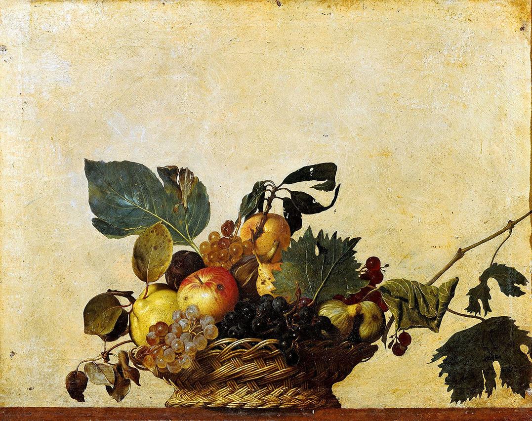 Canestra_di_frutta_(Caravaggio) ± 1600