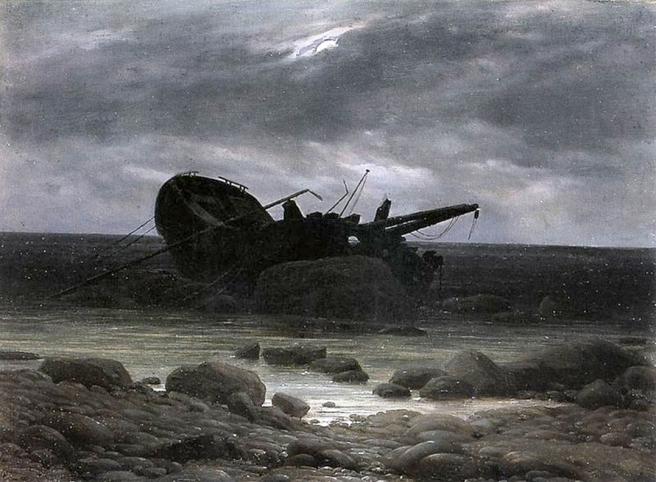 Friedrich Wrak in maanlicht  1835.jpg