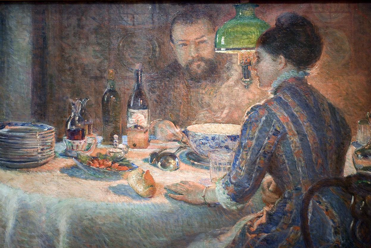 Marie Bracquemond Sous la Lampe (Sisley et sa femme) 1877.jpg