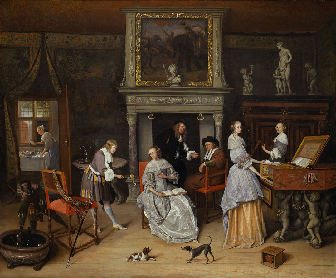 1. Jan_Steen InterieurJan_Steen_and_the_Family_of_Gerrit_Schouten 1663