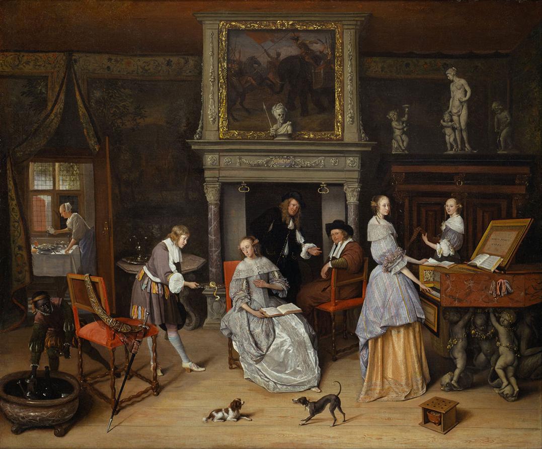 1. Jan_Steen InterieurJan_Steen_and_the_Family_of_Gerrit_Schouten 1663